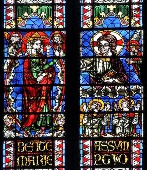 Cathédrale de Clermont ; vitraux-assomption
