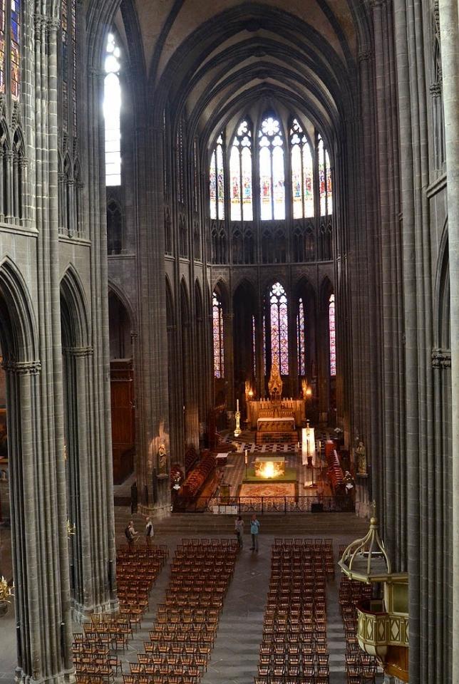 Cathédrale de Clermont ; nef