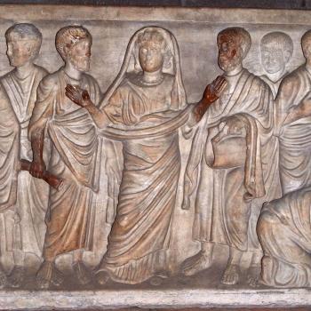 Cathédrale de Clermont ; sarcophage, orante