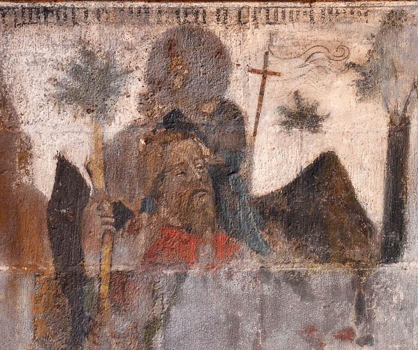 peinture cathédrale de Clermont, saint Christophe